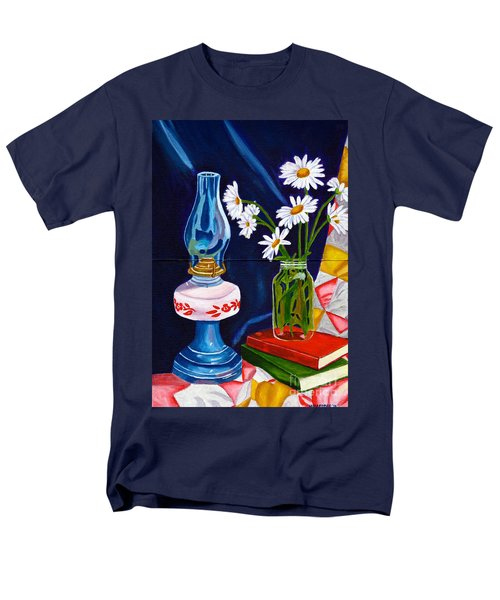 2 Books And A Lamp Men's T-Shirt  (Regular Fit) by Laura Forde