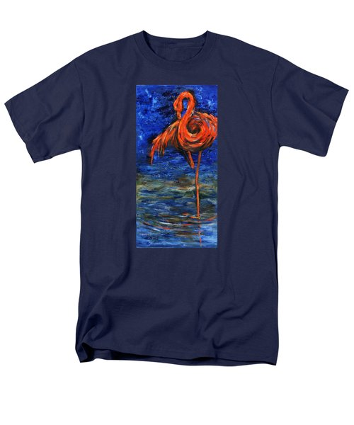 Men's T-Shirt  (Regular Fit) featuring the painting Flamingo by Xueling Zou