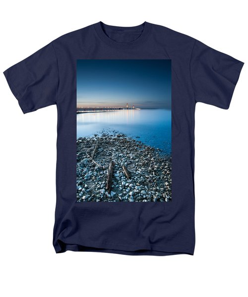 Mackinac Bridge Men's T-Shirt  (Regular Fit) by Larry Carr