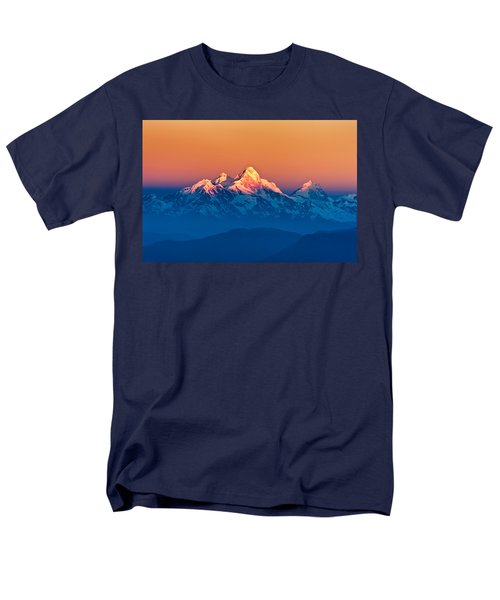 Himalayan Mountains View From Mt. Shivapuri Men's T-Shirt  (Regular Fit) by Ulrich Schade