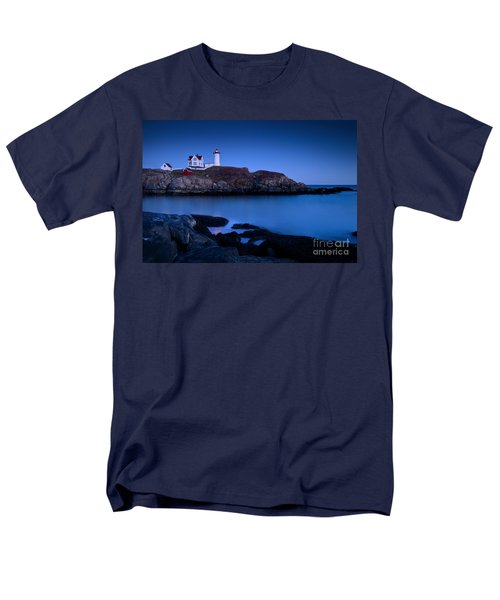 Nubble Lighthouse Men's T-Shirt  (Regular Fit) by Brian Jannsen