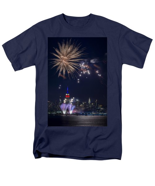 4th Of July Fireworks Men's T-Shirt  (Regular Fit) by Eduard Moldoveanu