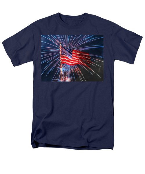 4th Of July Men's T-Shirt  (Regular Fit) by Heidi Smith