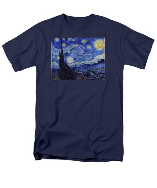 Starry Night Men's T-Shirt  (Regular Fit) by Vincent Van Gogh