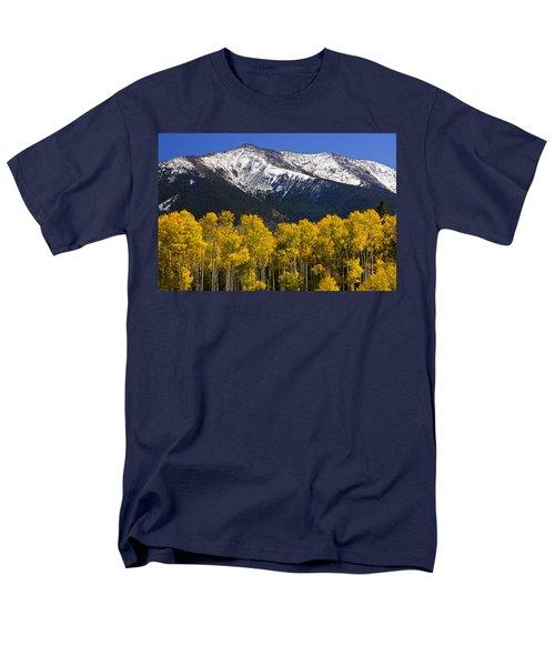 A Dusting Of Snow On The Peaks Men's T-Shirt  (Regular Fit) by Saija  Lehtonen