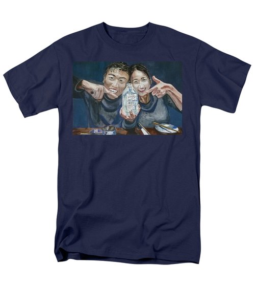 Men's T-Shirt  (Regular Fit) featuring the painting A Happy Birthday by Anna Ruzsan