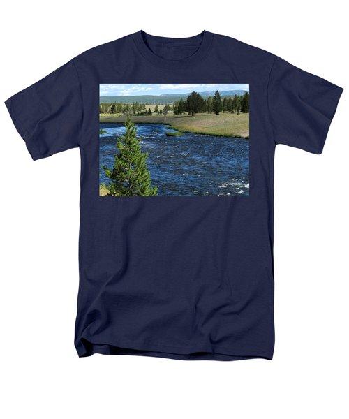 A River Runs Through Yellowstone Men's T-Shirt  (Regular Fit) by Laurel Powell