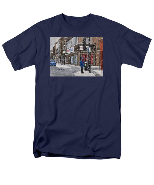 A Snowy Day On Wellington Men's T-Shirt  (Regular Fit) by Reb Frost