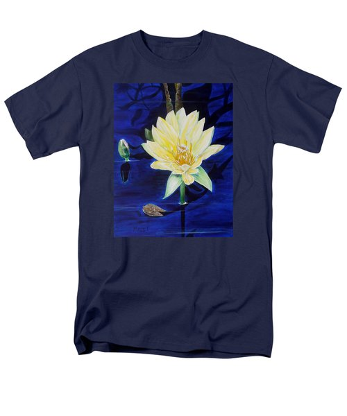 Men's T-Shirt  (Regular Fit) featuring the painting A Waterlily by Marilyn  McNish