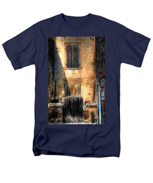 Men's T-Shirt  (Regular Fit) featuring the photograph A Yard In France by Tom Prendergast