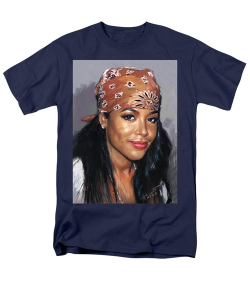 Men's T-Shirt  (Regular Fit) featuring the drawing Aaliyah by Viola El