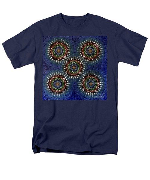Men's T-Shirt  (Regular Fit) featuring the painting Aboriginal Inspirations 16 by Mariusz Czajkowski