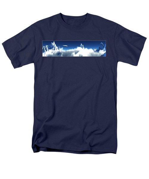 Men's T-Shirt  (Regular Fit) featuring the digital art Above The Clouds... by Tim Fillingim