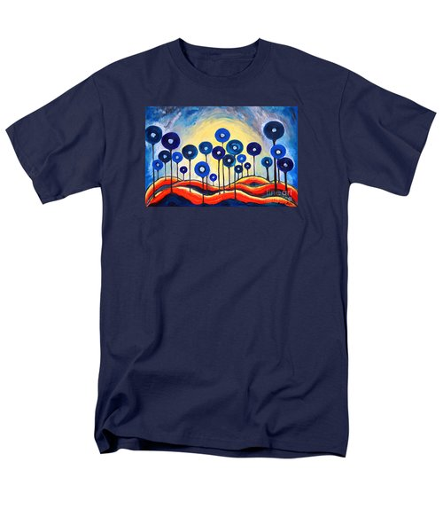 Abstract Blue Symphony  Men's T-Shirt  (Regular Fit) by Ramona Matei