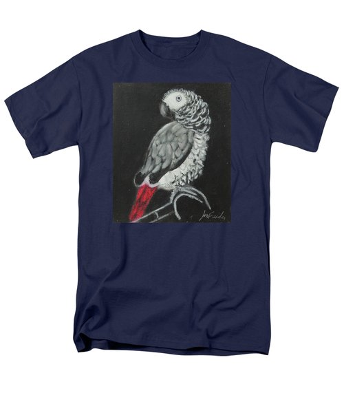 Men's T-Shirt  (Regular Fit) featuring the painting African Grey by Jeanne Fischer