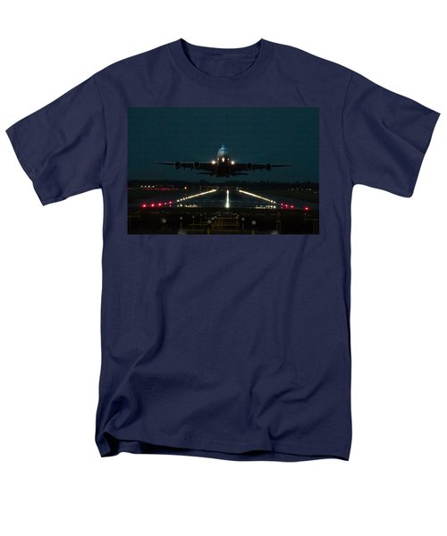Airbus A380 Take-off At Dusk Men's T-Shirt  (Regular Fit) by Tim Beach