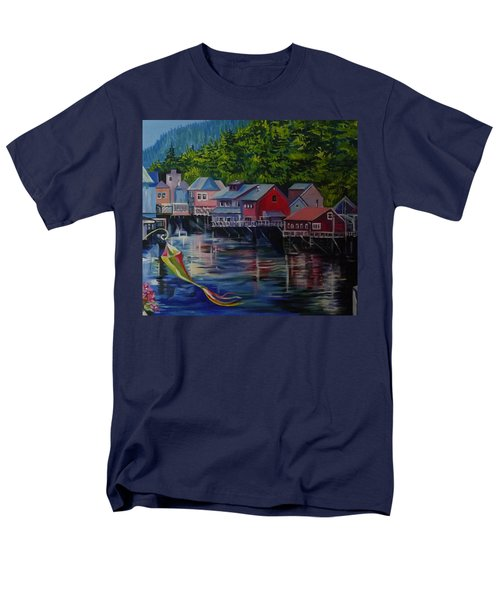 Alaska. Ketchikan Men's T-Shirt  (Regular Fit) by Anna  Duyunova