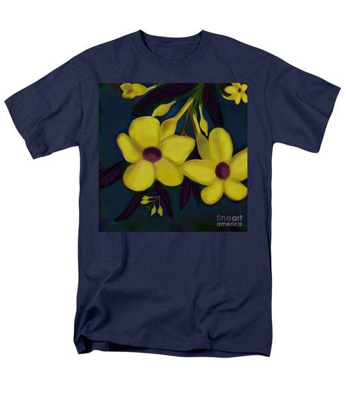 Men's T-Shirt  (Regular Fit) featuring the digital art Allamandas At Night by Latha Gokuldas Panicker