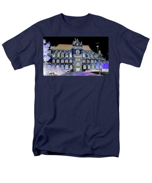 Altered Image Of Saint Eustache In Paris France Men's T-Shirt  (Regular Fit) by Richard Rosenshein