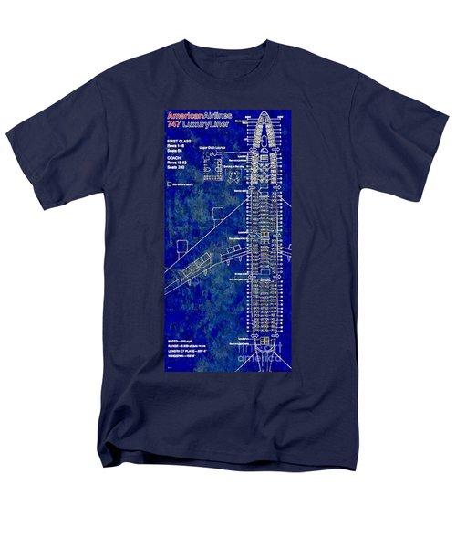 American Airlines 747 Men's T-Shirt  (Regular Fit) by Daniel Janda