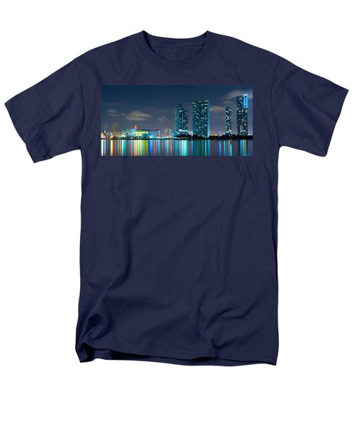 Men's T-Shirt  (Regular Fit) featuring the photograph American Airlines Arena And Condominiums by Carsten Reisinger