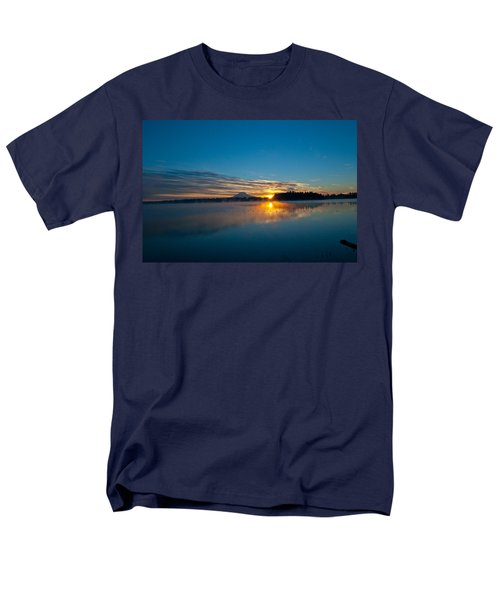 American Lake Sunrise Men's T-Shirt  (Regular Fit) by Tikvah's Hope