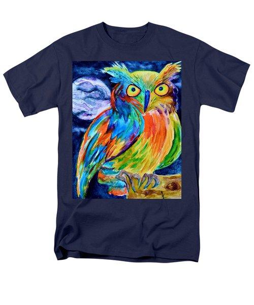 Ampersand Owl Men's T-Shirt  (Regular Fit) by Beverley Harper Tinsley