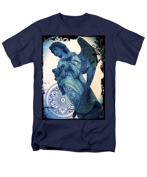 Men's T-Shirt  (Regular Fit) featuring the digital art Angel Of Peace - Art Nouveau by Absinthe Art By Michelle LeAnn Scott