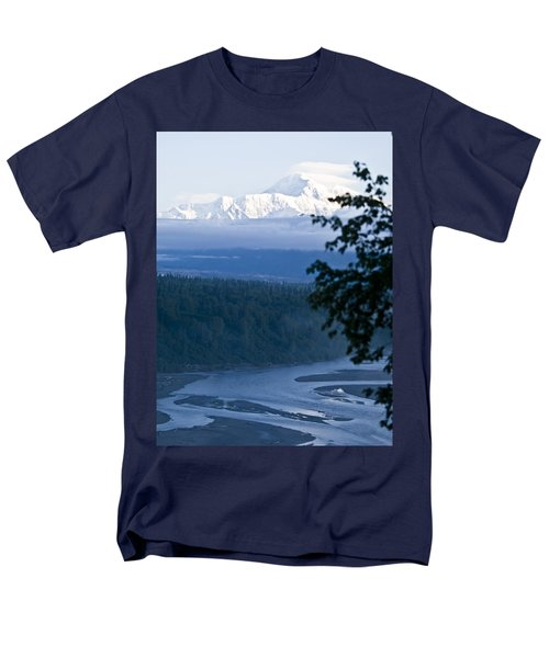 Another Denali View  Men's T-Shirt  (Regular Fit) by Tara Lynn