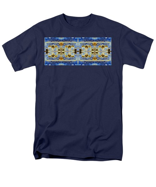 Men's T-Shirt  (Regular Fit) featuring the digital art Arches In Blue And Gold by Stephanie Grant