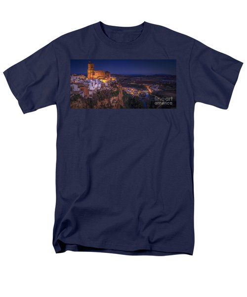 Arcos De La Frontera Panorama From Balcon De La Pena Cadiz Spain Men's T-Shirt  (Regular Fit) by Pablo Avanzini