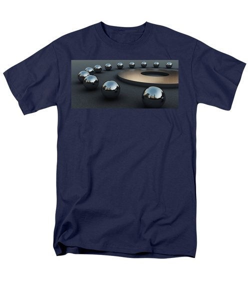 Men's T-Shirt  (Regular Fit) featuring the digital art Around Circles by Richard Rizzo