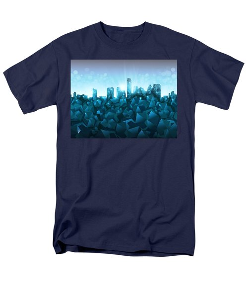 Austin Skyline Geometry 3 Men's T-Shirt  (Regular Fit) by Bekim Art