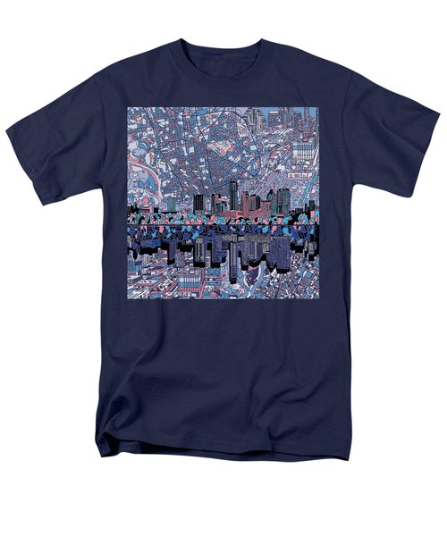 Austin Texas Skyline 3 Men's T-Shirt  (Regular Fit) by Bekim Art