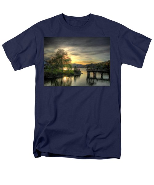 Men's T-Shirt  (Regular Fit) featuring the photograph Autumn Sunset by Nicola Nobile