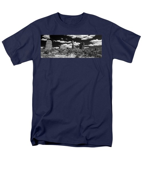 Men's T-Shirt  (Regular Fit) featuring the photograph Balanced Rock by Larry Carr