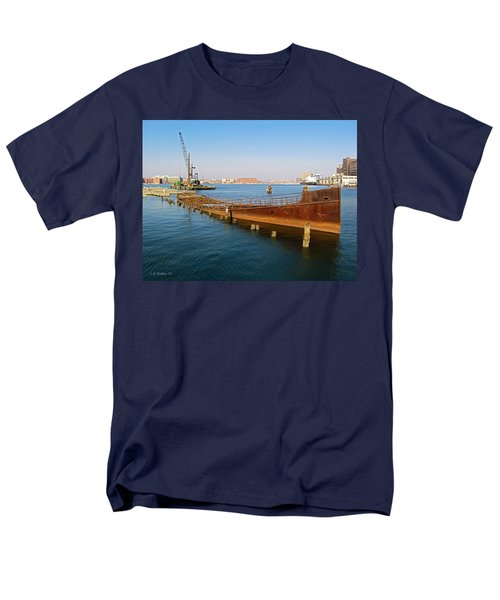 Men's T-Shirt  (Regular Fit) featuring the photograph Baltimore Museum Of Industry by Brian Wallace