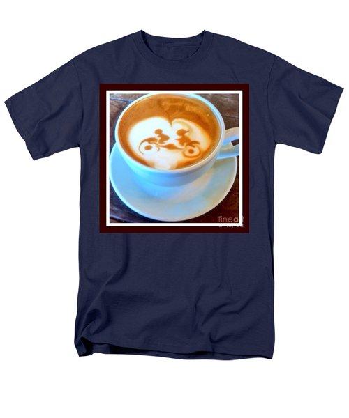 Bicycle Built For Two Latte Men's T-Shirt  (Regular Fit) by Susan Garren