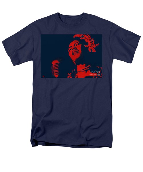 Men's T-Shirt  (Regular Fit) featuring the painting Billie Holiday by Vannetta Ferguson