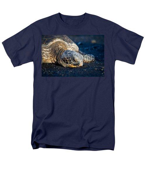 Black Sand Nap Men's T-Shirt  (Regular Fit) by Denise Bird