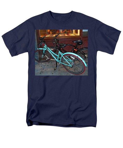 Men's T-Shirt  (Regular Fit) featuring the photograph Blue Bianchi Bike by Joan Reese