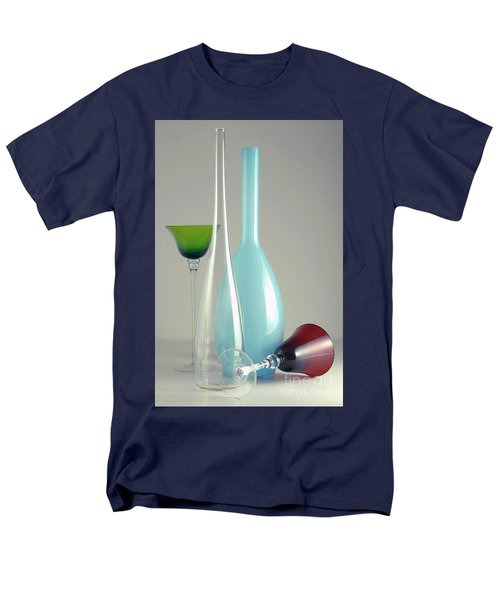 Men's T-Shirt  (Regular Fit) featuring the photograph Blue Bottle #2 by Elf Evans