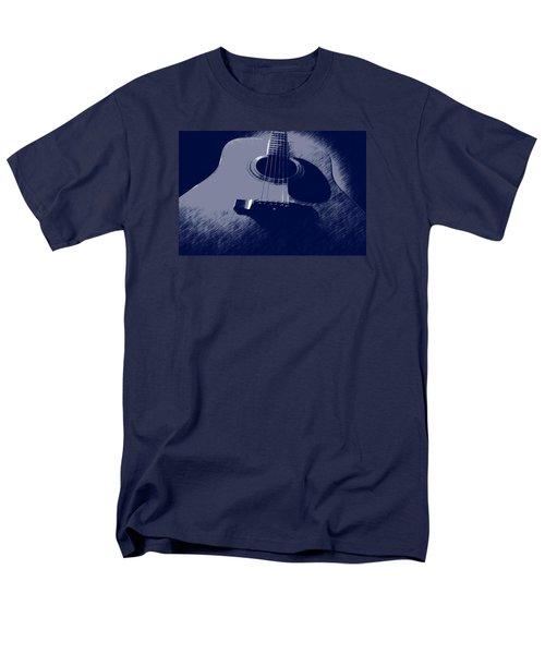 Blue Guitar Men's T-Shirt  (Regular Fit)