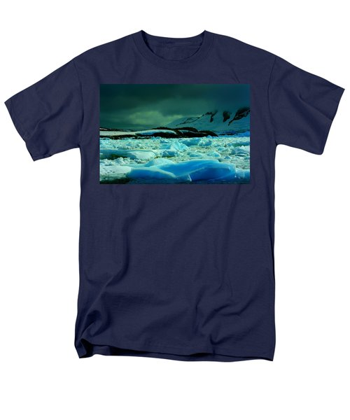 Men's T-Shirt  (Regular Fit) featuring the photograph Blue Ice Flow by Amanda Stadther