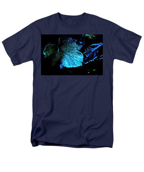 Men's T-Shirt  (Regular Fit) featuring the digital art Blue Leaf by Randi Grace Nilsberg