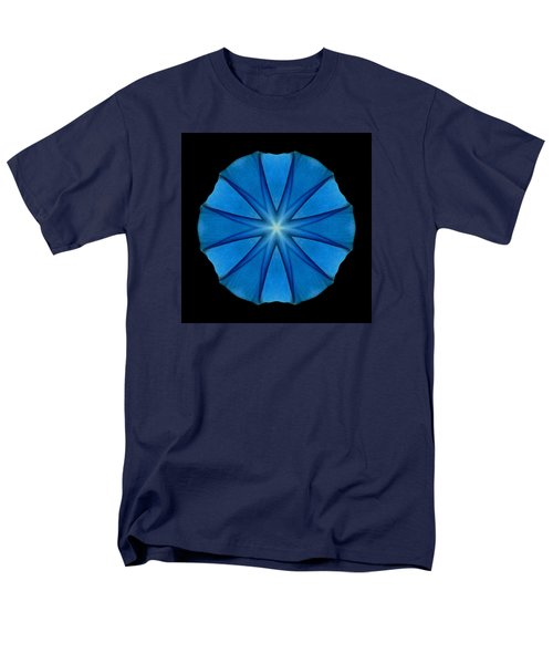 Blue Morning Glory Flower Mandala Men's T-Shirt  (Regular Fit)
