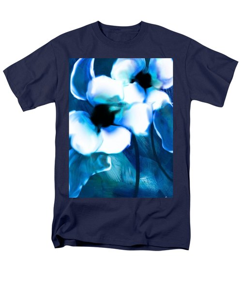 Men's T-Shirt  (Regular Fit) featuring the digital art Blue Orchids  by Frank Bright