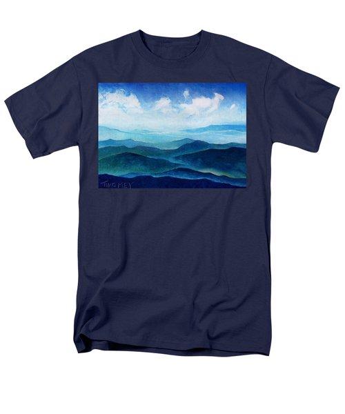 Blue Ridge Blue Skyline Sheep Cloud Men's T-Shirt  (Regular Fit) by Catherine Twomey