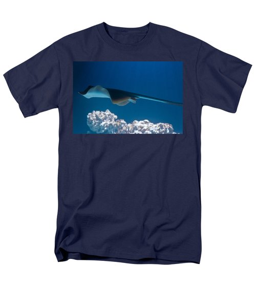 Men's T-Shirt  (Regular Fit) featuring the photograph Blue Spotted Fantail Ray by Eti Reid