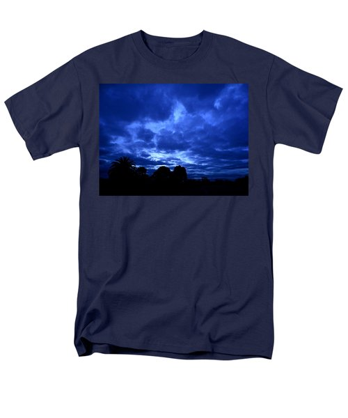 Men's T-Shirt  (Regular Fit) featuring the photograph Blue Storm Rising by Mark Blauhoefer